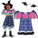 Vampire Outfit For Little Girls Toddler Kids Halloween Cosplay Costume 3-7 years old