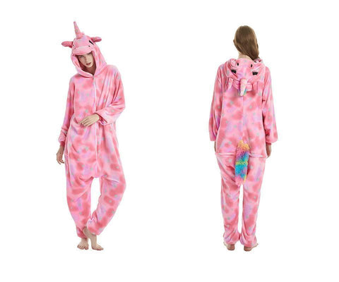 Adult Onesies Unicorn Costume Christmas Animal Pajamas