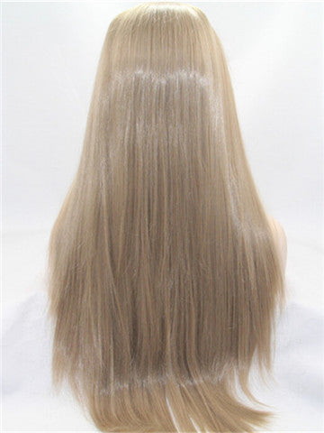 Amanda Gold Blonde Long Straight Synthetic Lace Front Wig - FashionLoveHunter