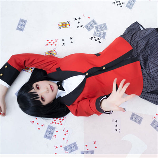 Anime Kakegurui Yumeko Jabami Cosplay Costumes Full Set