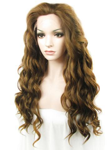 Long Medium Ash Brown Wavy Synthetic Lace Front Wig – FashionLoveHunter 2268f5a665d9
