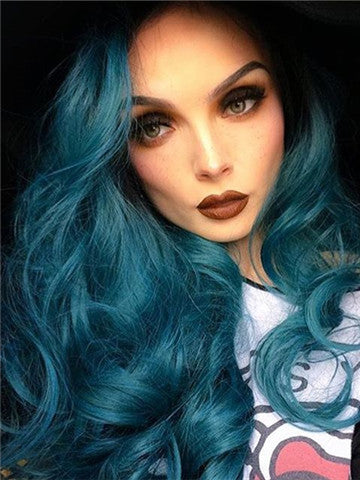 products/Black_Root_To_Dark_Green_Wave_Long_Synthetic_Lace_Front_Wig.jpg