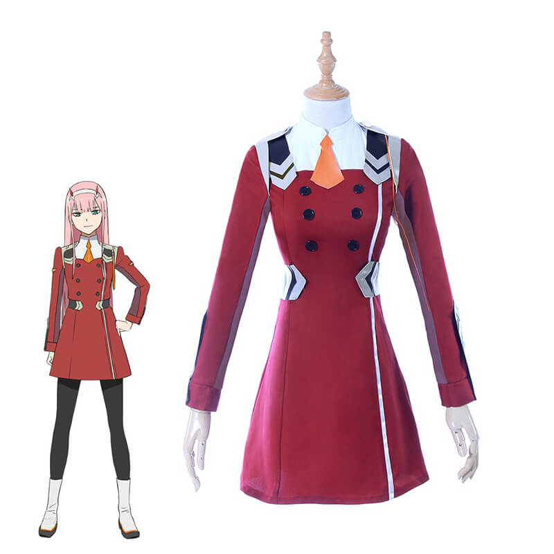 DARLING In The FRANXX ZERO TWO Uniform Outfit Anime Cosplay Costume