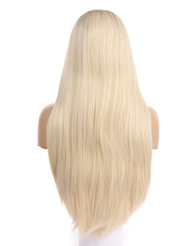 Alexia Ash Blonde Ombre  Handtied Synthetic Lace Front Wig DL0058 - princesswig