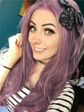 Long Lilac Purple Wave Synthetic Lace Front Wig