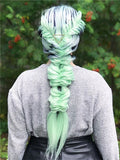 Galway Green Mint Ombre Long Straight Synthetic Lace Front Wig - FashionLoveHunter