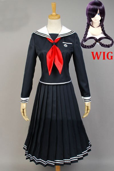 Anime Danganronpa Dangan-Ronpa 2 Toko Fukawa Cosplay Costume School Uniform Halloween Party costumes Dangan-Ronpa Cosplay Wig