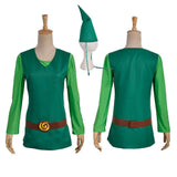 Legend of Zelda Four Swords Blue Link Cosplay Costume Top with Hat