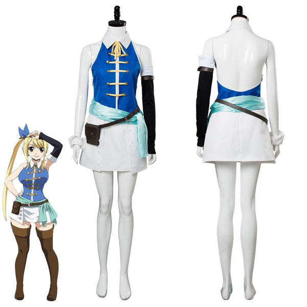 Fairy Tail Lucy Cosplay Costume Women Girls Halloween Party Dress