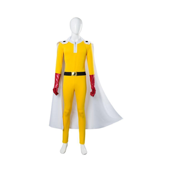 One Punch Man Hero Saitama Cosplay Costume Jumpsuit Outfit Uniform