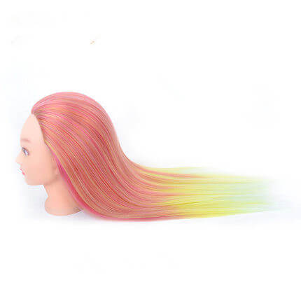 Hairdressing Practice Mannequin Training Head Model Hairstyles Braiding Synthetic Wig