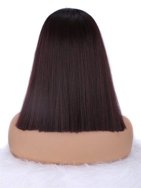 Ombre Wine Red Synthetic Wig IMC4T199J