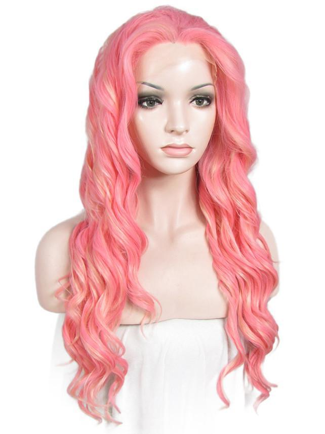 Long Wavy Synthetic Glueless Lace Front Wigs - Imstylewigs