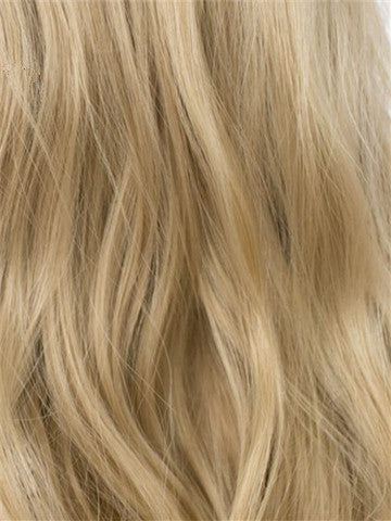 Long Royal Ash Golden Loose Wave Layered Synthetic Lace Front Wig - FashionLoveHunter