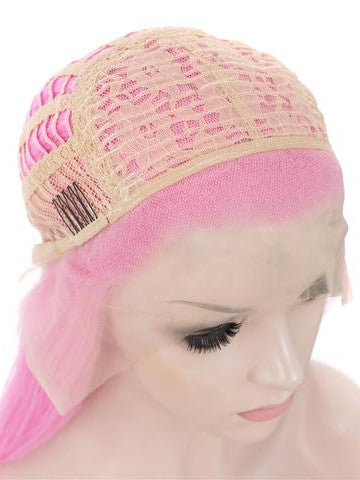 Magic Pink Temperature Activated Changing Synthetic Lace Front Wig - FashionLoveHunter