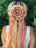 New Unicorn Long Florid Azalea Pink Synthetic Lace Front Wig