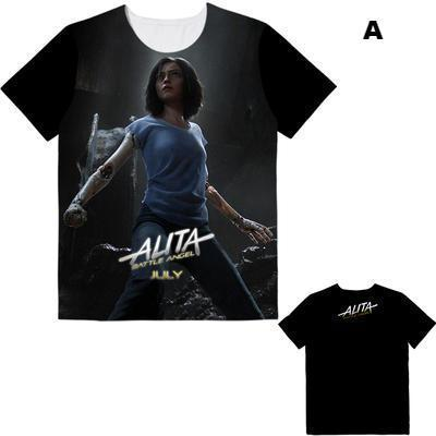Alita Battle Angel Live Action Manga Anime Movie T Shirt