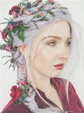 Pastel Light Silver Blue Lilac Long Synthetic Lace Front Wig - FashionLoveHunter