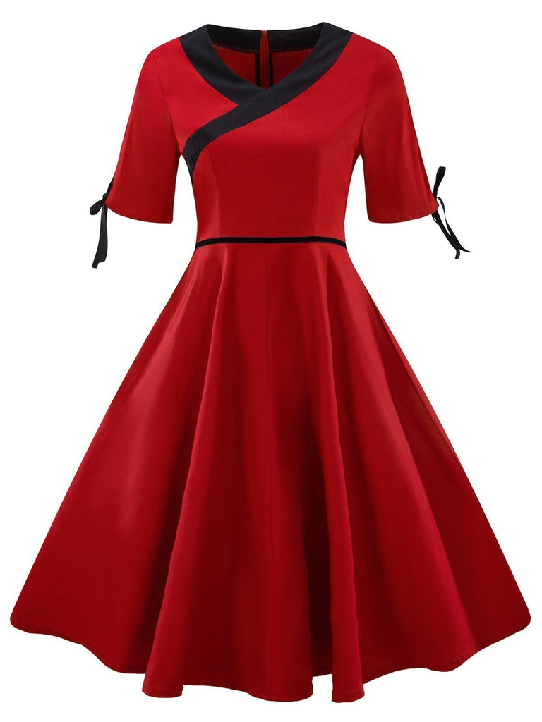 1950s Chinese Style Swing Dress