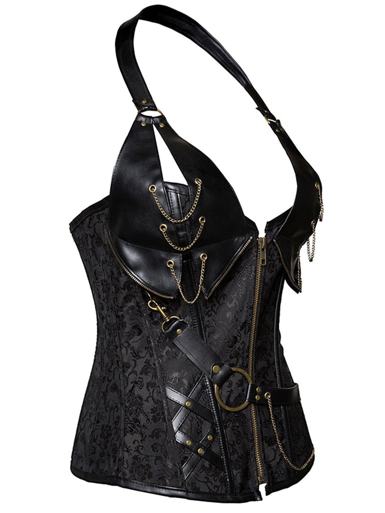 Halloween Steampunk Pirate Leather Corset
