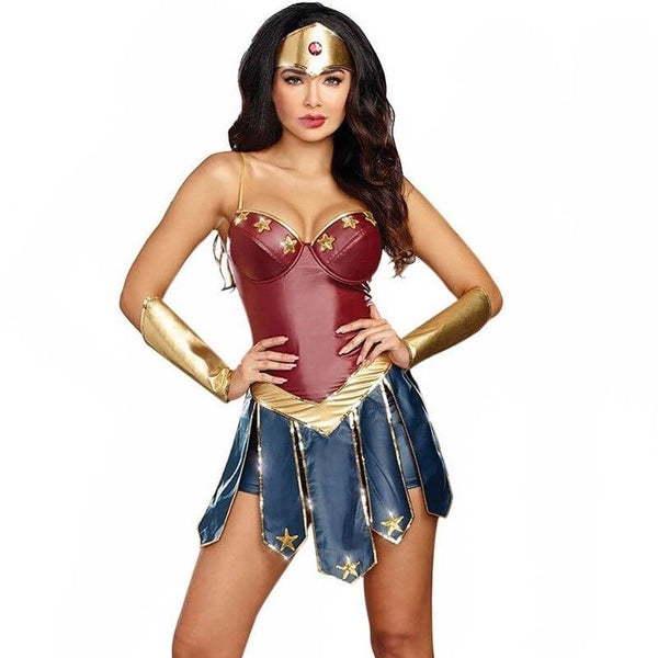 Wonder Woman Cosplay Costumes Adult Justice League Super Hero Sexy Fancy Dress