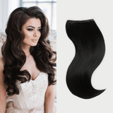 "20"" 9 Pieces Off Black #1B Clip In Virgin Human Hair Set Extension"