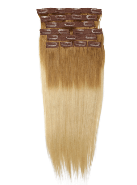 "20"" 10 Pieces Ombre Blonde #1860 Clip In Virgin Human Hair Set Extension"
