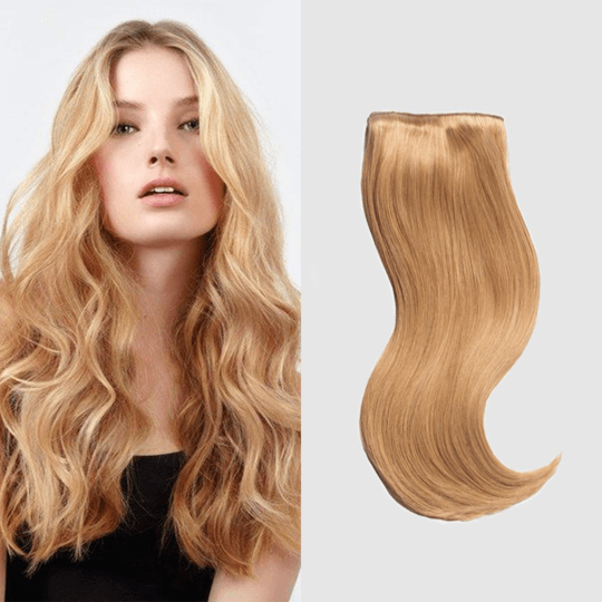 "20"" 9 Pieces Strawberry Blonde #16 Clip In Virgin Human Hair Set Extension"