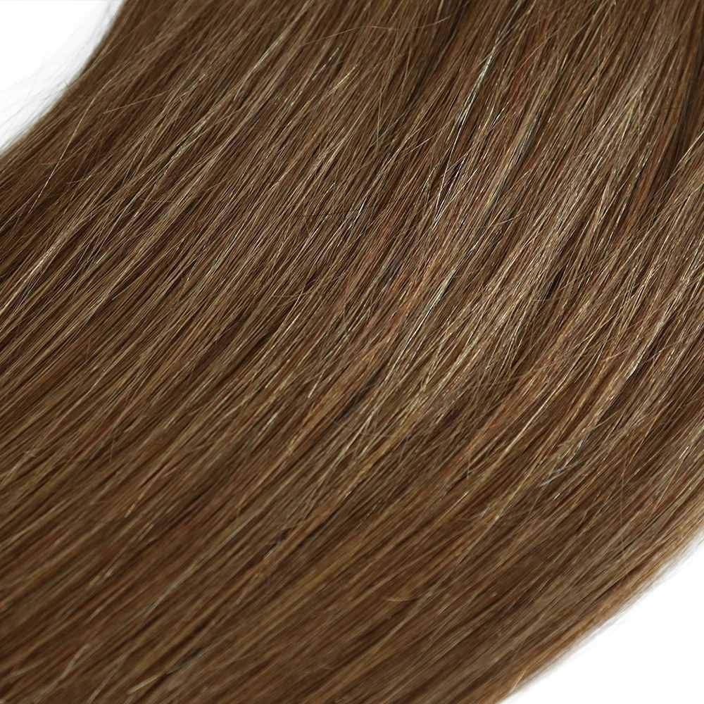 "20"" 10 Pieces Brown #6 Clip In Virgin Human Hair Set Extension"