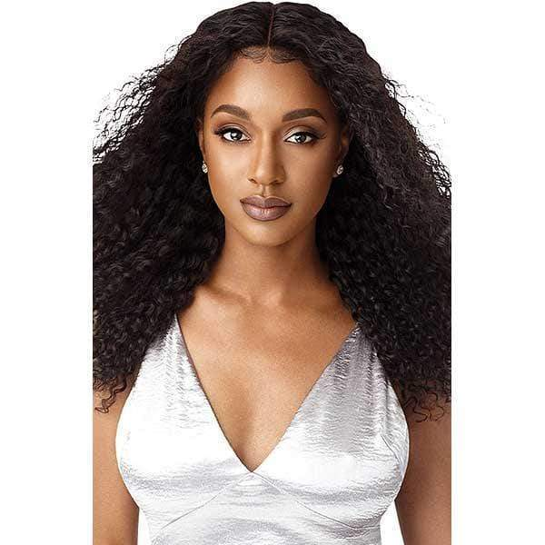 Outre 100% Human Hair Lace Wigs Outre Mytresses Black Label 100% Unprocessed Human Hair  360 Hand Tied Lace Wig - NATURAL BOHEMIAN