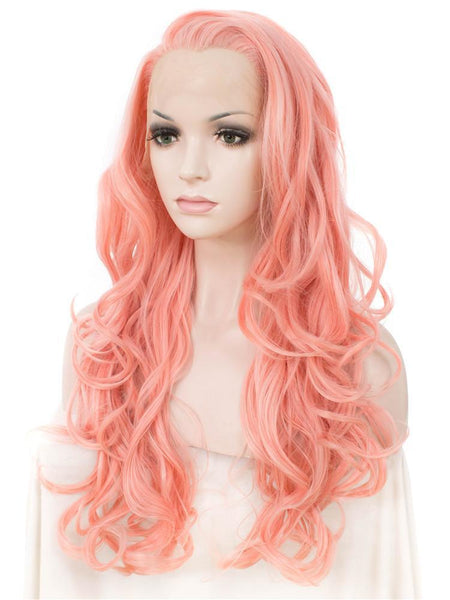 Long Wavy Glueless Synthetic Lace Front Wigs - Imstylewigs