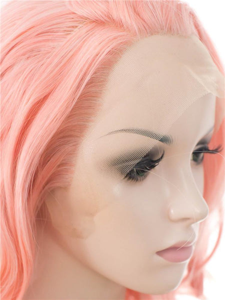 Coral Pink Glueless Lace Front Wigs - Imstylewigs
