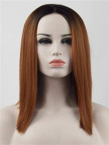 Short Tonya Brown Ombre Bob Synthetic Lace Front Wig - FashionLoveHunter