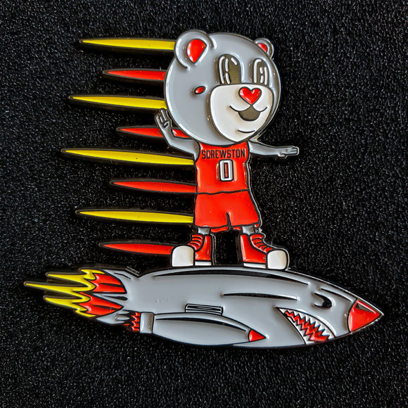 Rocket Rider Enamel Pin