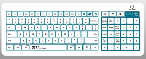 Capacitive glass keyboard - KGL-B10010