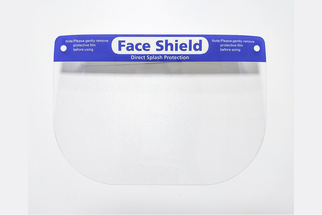 Face shield - Sneeze guard - Splash mask - Protective visor - MES-TFS10010-OEM