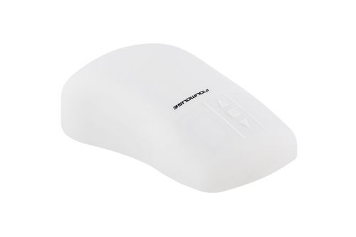 InduMouse™ - the sanitizable, ergonomic full silicone PC mouse in grey - KH18218