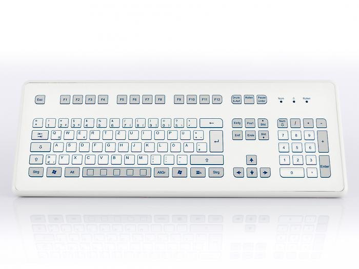 Industrial foil-covered desktop keyboard - KS18233 / KS18231