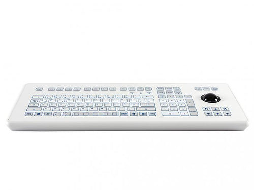 Industrial foil-covered desktop keyboard with an integrated 38-mm trackball - KS18237 / KS18235