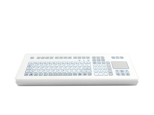 Industrial foil-covered desktop keyboard with an integrated touchpad - KS18241/ KS18239