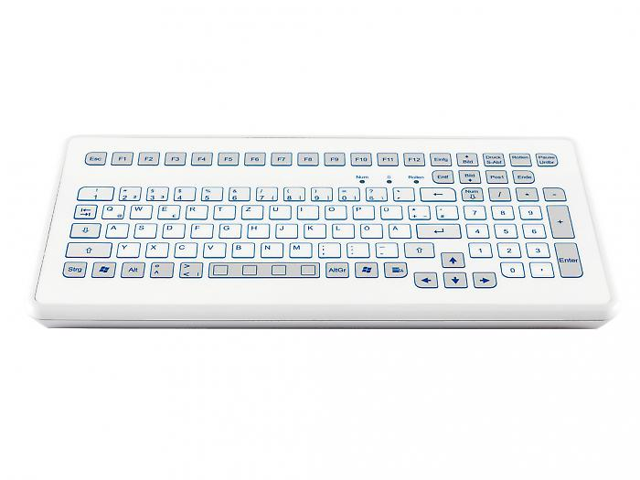 Industrial foil-covered desktop keyboard - KS18245 / KS18243