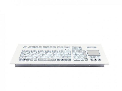 Industrial foil-covered keyboard for front-side integration with integrated touchpad - KS18285/KS18283