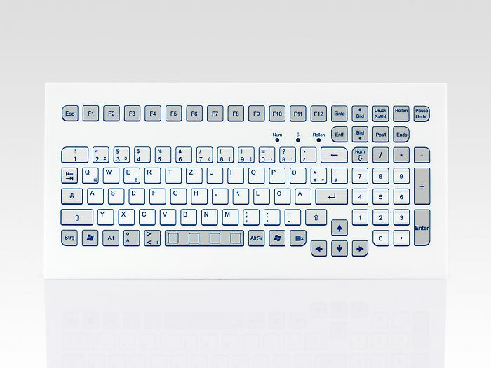Industrial foil-covered keyboard for front-side integration - KS18289 / KS18287