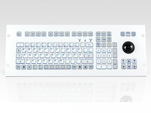 Industrial foil-covered keyboard for 19