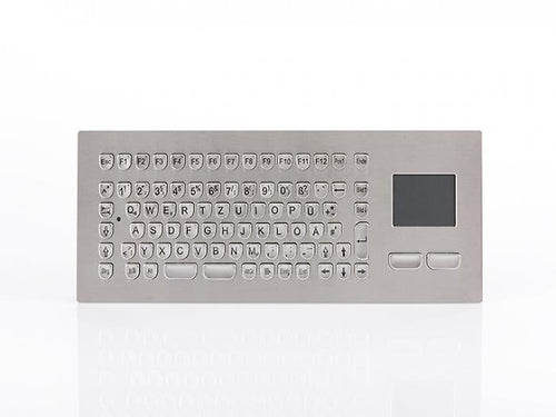 InduSteel™ -  The stainless steel panel mount keyboard with compact full layout and touchpad - KV13003