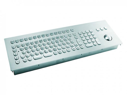 InduSteel³™ -  The stainless steel panel mount keyboard with full layout and 38-mm trackball - KV14008