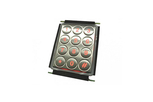 Backlit stainless steel number pad with round buttons - KV21202