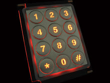 Load image into Gallery viewer, Backlit stainless steel number pad with round buttons - KV21202
