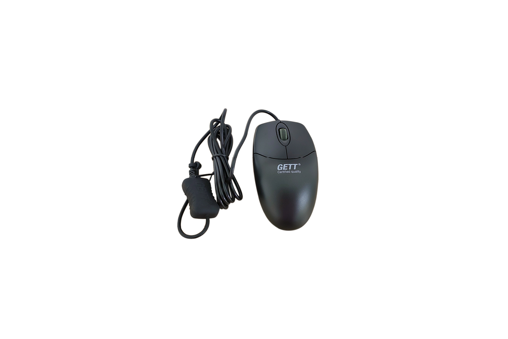 Black industrial plastic mouse - MPL-U20010