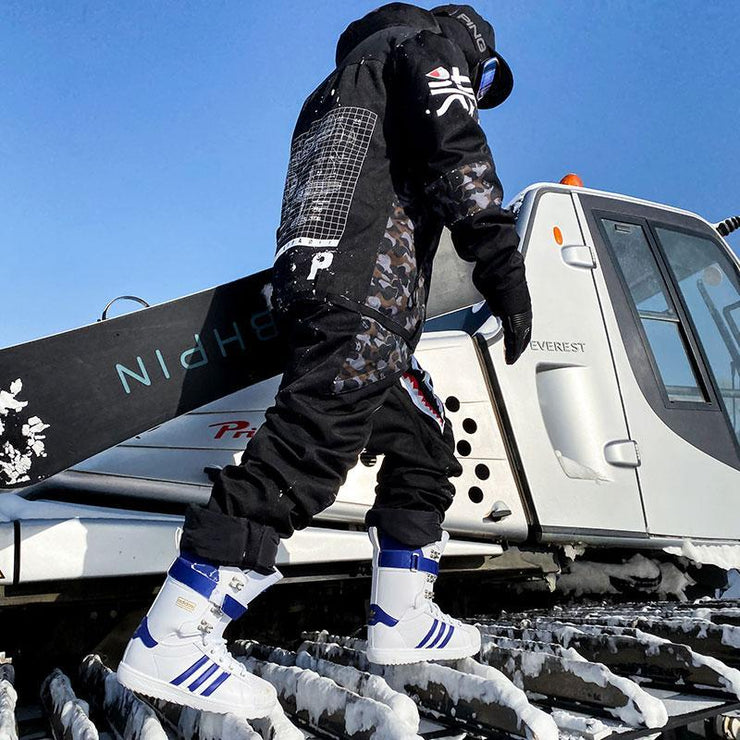 PINGUP P-40 Fighter & Shark Conjoined One Piece Snowboard Suits